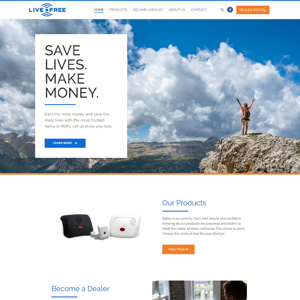Screenshot of LifeBeacon.com homepage