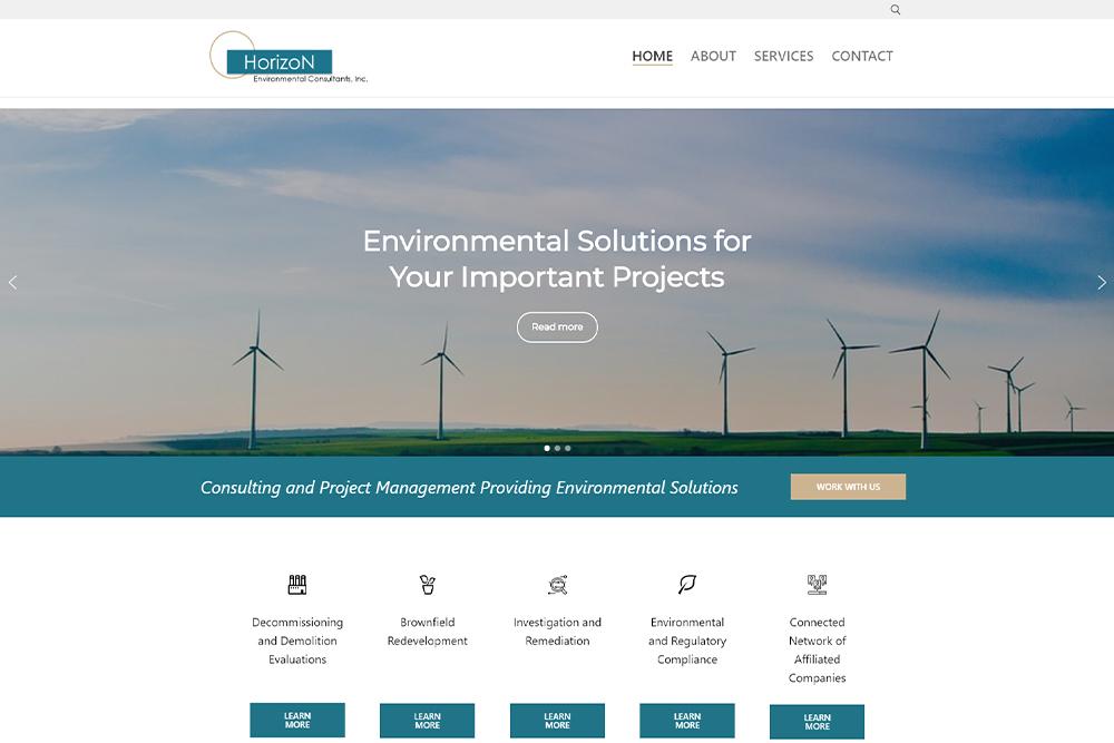 Screenshot of horizonenvironmentalconsultants.com