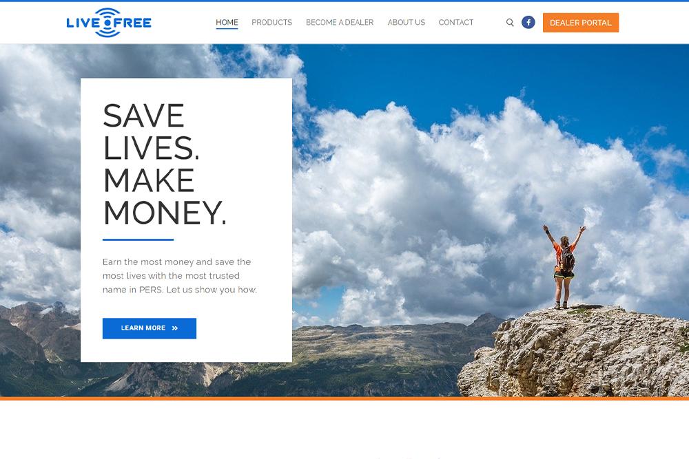 Screanshot of lifebeacon.com
